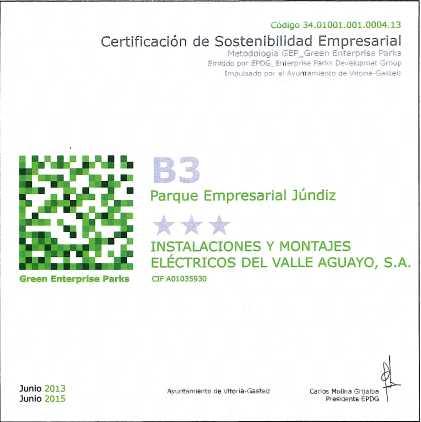Certificación de Sostenibilidad Empresarial